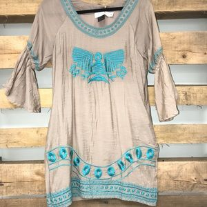 Urban mango 3/4 sleeve dress with pockets